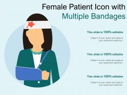 Female Patient Icon With Multiple Bandages