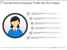 Female Person Executive Profile With Text Holders