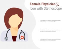 Female Physician Icon With Stethoscope