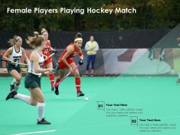 Female Players Playing Hockey Match
