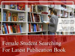 Female Student Searching For Latest Publication Book