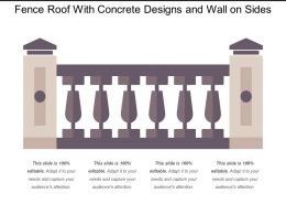 Fence Roof With Concrete Designs And Wall On Sides