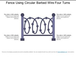 Fence Using Circular Barbed Wire Four Turns