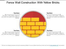 Fence Wall Construction With Yellow Bricks