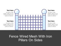 Fence Wired Mesh With Iron Pillars On Sides