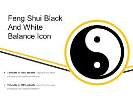 Feng Shui Black And White Balance Icon