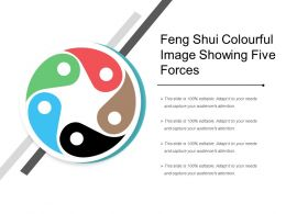 Feng Shui Colourful Image Showing Five Forces