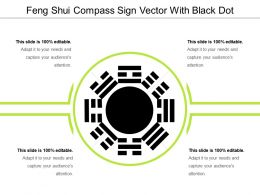 Feng Shui Compass Sign Vector With Black Dot
