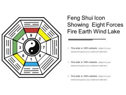 Feng Shui Icon Showing Eight Forces Fire Earth Wind Lake