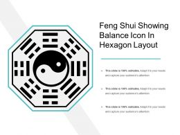 Feng Shui Showing Balance Icon In Hexagon Layout