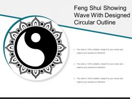 Feng Shui Showing Wave With Designed Circular Outline