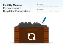 Fertility Manure Preparation With Recyclable Products Icon