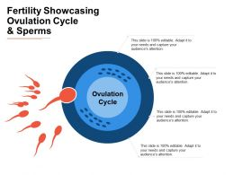 Fertility Showcasing Ovulation Cycle And Sperms