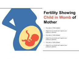 Fertility Showing Child In Womb Of Mother