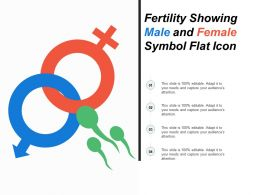 Fertility Showing Male And Female Symbol Flat Icon