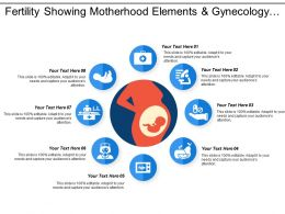 Fertility Showing Motherhood Elements And Gynecology Infographics
