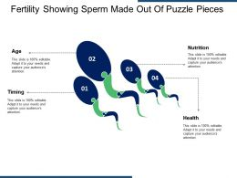 Fertility Showing Sperm Made Out Of Puzzle Pieces