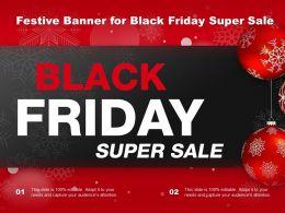 Festive Banner For Black Friday Super Sale