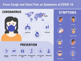Fever Cough And Chest Pain As Symptoms Of COVID 19 Medical Ppt Powerpoint Presentation Styles Ideas
