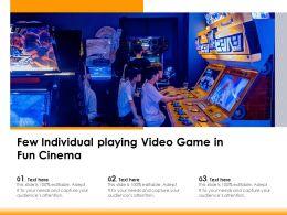 Few Individual Playing Video Game In Fun Cinema