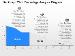 ff Bar Graph With Percentage Analysis Diagram Powerpoint Template