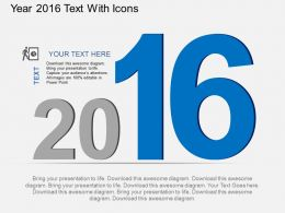 ff Year 2016 Text With Icons Flat Powerpoint Design