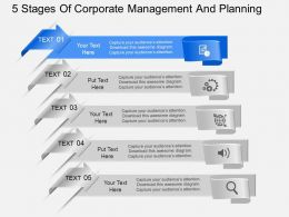 fg 5 Stages Of Corporate Management And Planning Powerpoint Template