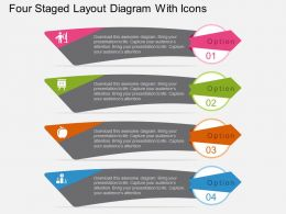 fg Four Staged Layout Diagram With Icons Flat Powerpoint Design