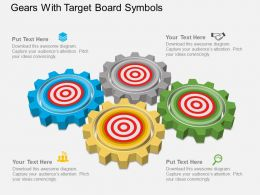 Fg Gears With Target Board Symbols Powerpoint Template