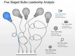 fh Five Staged Bulbs Leadership Analysis Powerpoint Template
