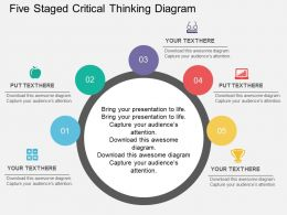 Fh Five Staged Critical Thinking Diagram Flat Powerpoint Design