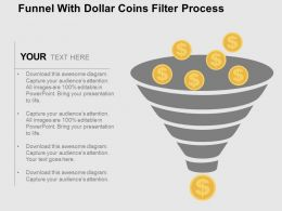 Fh Funnel With Dollar Coins Filter Process Flat Powerpoint Design