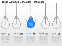 fi Bulbs With Idea Generation Techniques Powerpoint Template