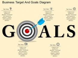 fi Business Target And Goals Diagram Flat Powerpoint Design