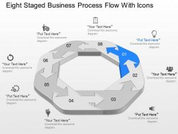 fi Eight Staged Business Process Flow With Icons Powerpoint Template