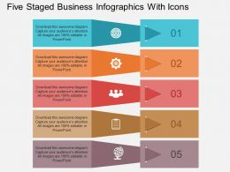 Fi Five Staged Business Infographics With Icons Flat Powerpoint Design