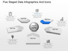 fi Five Staged Data Infographics And Icons Powerpoint Template