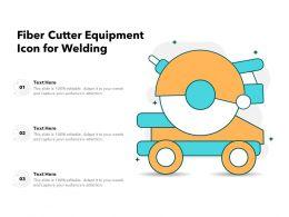 Fiber Cutter Equipment Icon For Welding
