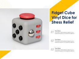 Fidget Cube Vinyl Dice For Stress Relief