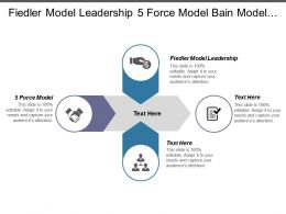 Fiedler Model Leadership 5 Force Model Bain Model Cpb