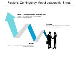 Fiedlers Contingency Model Leadership Styles Ppt Powerpoint Presentation Inspiration Layouts Cpb