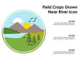 Field Crops Grown Near River Icon