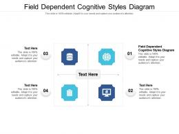 Field Dependent Cognitive Styles Diagram Ppt Powerpoint Presentation Slides Design Templates Cpb