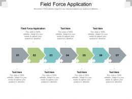 Field Force Application Ppt Powerpoint Presentation Infographic Template Brochure Cpb