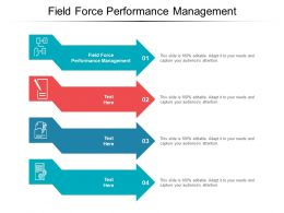 Field Force Performance Management Ppt Powerpoint Presentation Outline Files Cpb