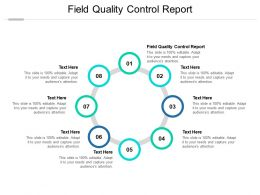 Field Quality Control Report Ppt Powerpoint Presentation Model Information Cpb