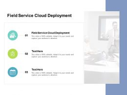 Field Service Cloud Deployment Ppt Powerpoint Presentation Slides Layouts Cpb