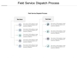 Field Service Dispatch Process Ppt Powerpoint Presentation Professional Cpb