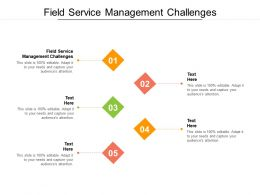 Field Service Management Challenges Ppt Powerpoint Presentation Ideas Outline Cpb