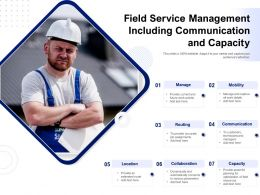 Field Service Management Including Communication And Capacity